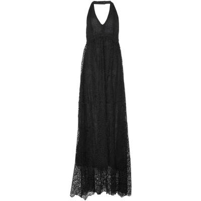 リュー ジョー LIU •JO ロングワンピース&ドレス ブラック 38 ポリエステル 100% ロングワンピース&ドレス
