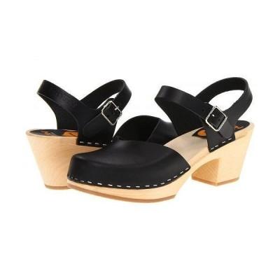 Swedish Hasbeens スウェディッシュハズビーンズ レディース 女性用 シューズ 靴 クロッグ Covered High - Black/Nature
