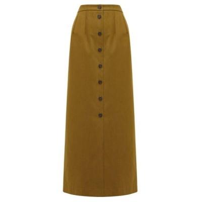 ジル サンダー Jil Sander レディース ひざ丈スカート スカート Brushed cotton-twill maxi skirt Khaki tan