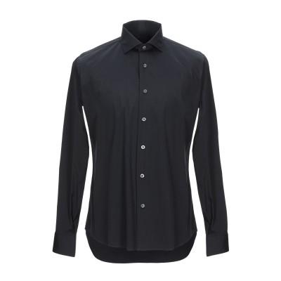 レ コパン LES COPAINS シャツ ブラック 40 コットン 78% / ナイロン 17% / ポリウレタン 5% シャツ