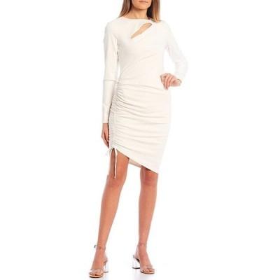 ゲス レディース ワンピース トップス Meryl Long-Sleeve Side Cinch Dress