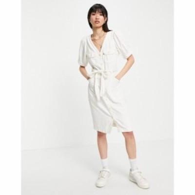 リーバイス Levis レディース ワンピース ミドル丈 ワンピース・ドレス Bryn Balloon Sleeve Midi Dress In White