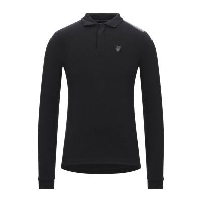 EA7 ポロシャツ ブラック XS コットン 95% / ポリウレタン 5% ポロシャツ