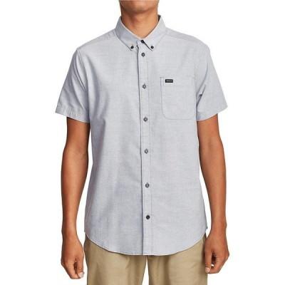 ルーカ メンズ シャツ トップス That'll Do Short-Sleeve Slim-Fit Stretch Woven Shirt Oxford Blue