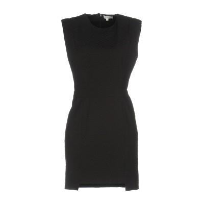 INTROPIA ミニワンピース&ドレス ブラック 40 55% コットン 39% ポリエステル 6% ポリウレタン ミニワンピース&ドレス