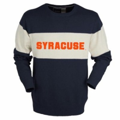 Bruzer ブルーザー スポーツ用品  Bruzer Syracuse Orange Navy Bar Down Crew Neck Sweater