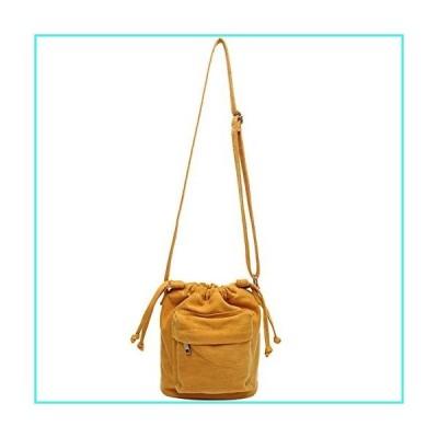 【新品】Small Drawstring Bucket Purse for Women Cute Little Canvas Crossbody Bag Shoulder Handbag for Teen Girls(並行輸入品)