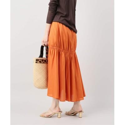 レディース プラージュ 【TOTEME/トーテム】シャーリング スカート◆ オレンジ フリー