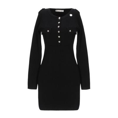 MANGANO ミニワンピース&ドレス ブラック M/L レーヨン 40% / ナイロン 32% / ポリエステル 28% ミニワンピース&ドレス