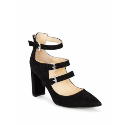 イバンカトランプ レディース シューズ パンプス Kamon Point Toe Buckled Suede Shoes
