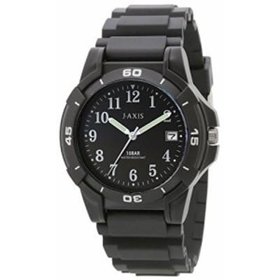 [J-アクシス] 腕時計 10気圧防水 日付表示 見やすい文字盤 軽い NAG50-BK  (中古品)