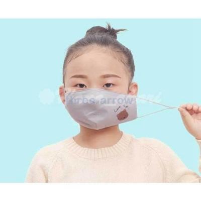 布マスク 春 子供用マスク 中綿マスク 洗える キッズマスク オシャレ 繰り返し 三層構造 個包装 5枚入り 立体 かわいい UVカット 長さ調整 花粉 飛沫予防 安い