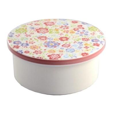 東洋セラミックス(Toyo Ceramic) 有田焼 平蓋おしゃれおひつ 2合 トロピカル (1355817)