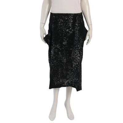 【中古】ワイズ Y's スカート 黒 白 緑 2 ボトムス ロング丈 M YD-S10-242 レーヨン レディース 【ベクトル 古着】