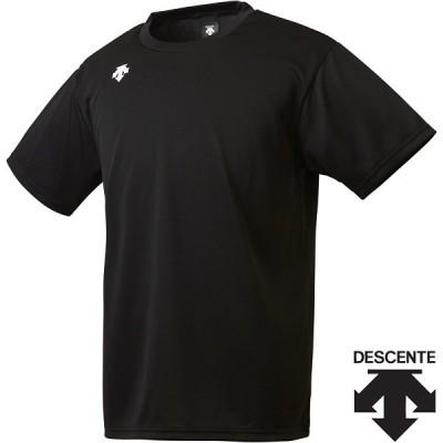 ◆◆○送料無料 メール便発送 <デサント> ユニセックス ワンポイントハーフスリーブシャツ DMC5801B (BLK) 半袖Tシャツ DMC5801B-BLK