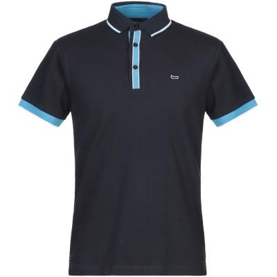 GAS ポロシャツ ダークブルー M コットン 95% / ポリウレタン 5% ポロシャツ