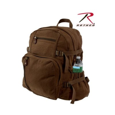 ROTHCO / ロスコ 9243 VINTAGE CANVAS JUMBO BACKPACK - EARTH BROWN