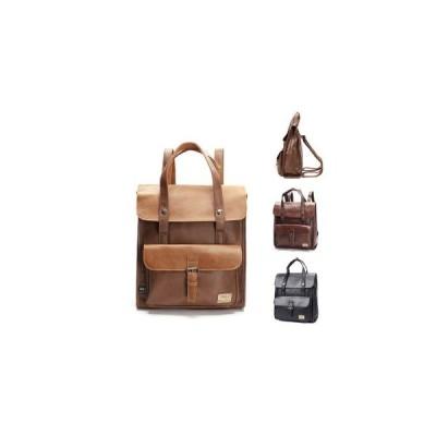メンズリュックサック革レザー大容量レトロ紳士用2wayビジネスリュック手提げハンドルバッグ上質通勤通学バックパックbackpackディパック
