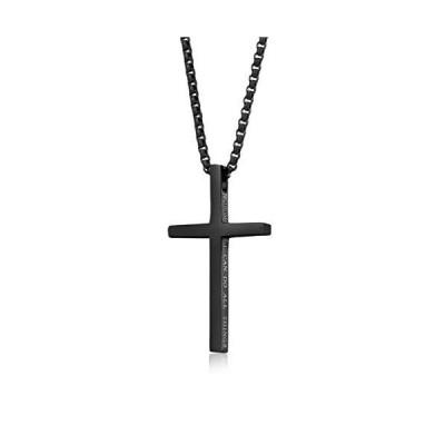 YaumaTea Philippians 4:13 Cross Pendant Necklace for Men & Women, Bible Ver