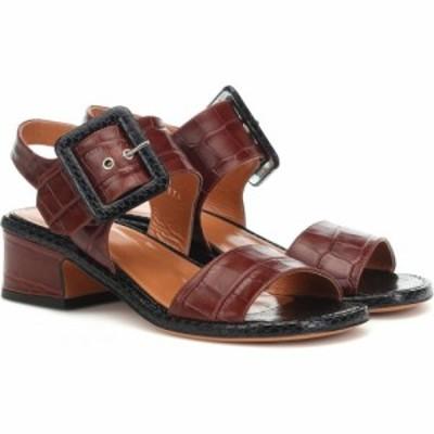 ドリス ヴァン ノッテン Dries Van Noten レディース サンダル・ミュール シューズ・靴 embossed leather sandals DBrown