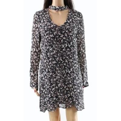 Sanctuary サンクチュアリ ファッション ドレス Sanctuary NEW Blue Womens Small S Bird Print Cutout Neck Sheath Dress