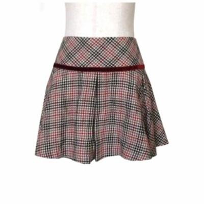 JILLSTUART ジル スチュアート クラシックリボンツイードスカート (ボルドー 茶色) 111418【中古】