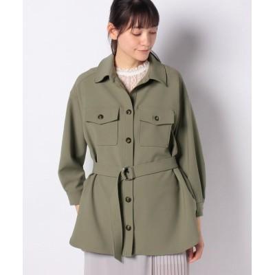 【マイストラーダ】 CPOシャツジャケット レディース カーキ 38 Mystrada