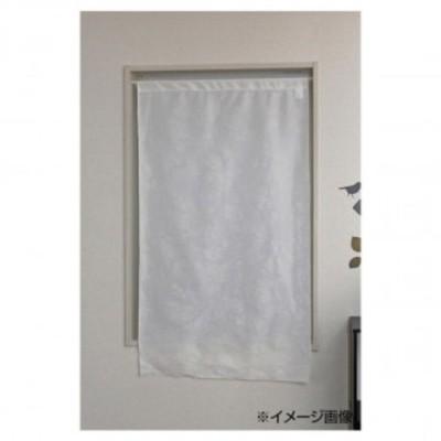 バラ柄レース 小窓カーテン 22114 ホワイト 70×120cm  カーペット カーテン ファブリック【同梱不可】[▲][AB]