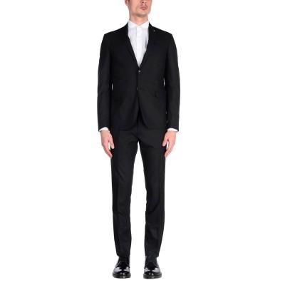 LIU •JO MAN スーツ ブラック 46 ポリエステル 69% / レーヨン 28% / ポリウレタン 3% スーツ