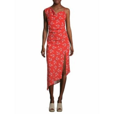 ABS バイ アレンシュバルツ レディース ワンピース Floral-Print One Shoulder Dress