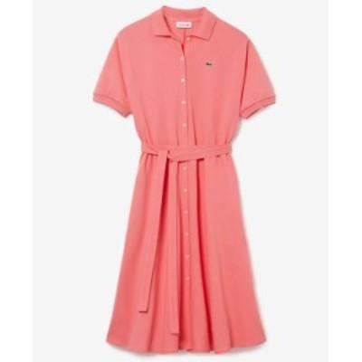 ラコステ レディース ワンピース トップス Cotton Belted Polo Shirt Dress Light/pastel Pink