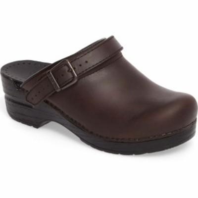 ダンスコ DANSKO レディース クロッグ シューズ・靴 Ingrid Clog Antique Brown Leather