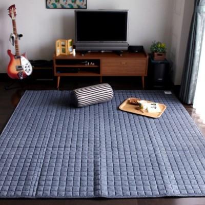 キルティングラグ スウェットキルト(190×240)北欧カーペット おしゃれ かわいい ナチュラル 床暖房ホットカーペット対応