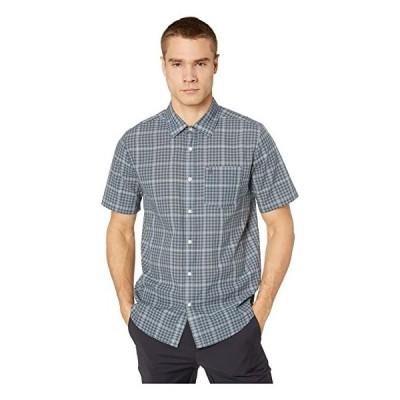 ボルコム シャツ ボタンアップシャツ メンズ Volcom Kelso Plaid Short Sleeve Stormy Blue
