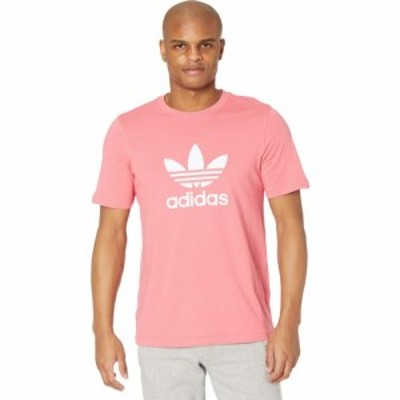 アディダス adidas Originals メンズ Tシャツ トップス Trefoil Tee Hazy Rose/White