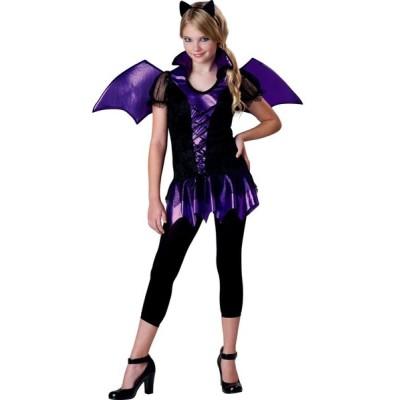 吸血鬼 コスプレ 子供 紫 コウモリ 女の子 衣装 コスチューム