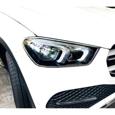 ベンツ メッキ ヘッドライト ヘッドランプ リング W167 GLE300d GLE400d GLE450 GLE53 SUV クーペ GLEクラス ガーニッシュ