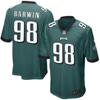 キッズ スポーツリーグ フットボール Connor Barwin Philadelphia Eagles Nike Youth Team Color Game Jersey - Midnight Green ジャージ