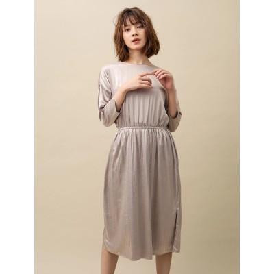 サテンギャザードレス