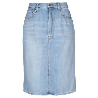 プラスピープル (+) PEOPLE デニムスカート ブルー 25 コットン 100% デニムスカート
