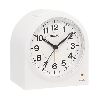 セイコー クロック 目覚まし時計 アナログ 白 KR894W SEIKO (ホワイト)