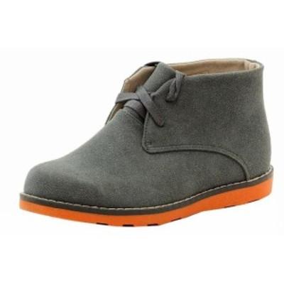 キッズ シューズ Easy Strider Boys The Chukka Booties Fashion Boot Grey School Uniform Shoes