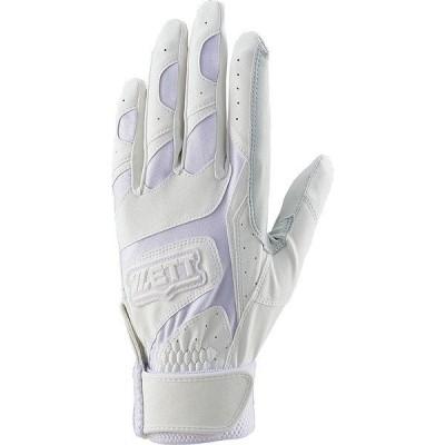 ZETT ゼット バッティング グラブリョウテヨウ BG677HS-1100 野球 バッティンググローブ 手袋 両手 ホワイト セール
