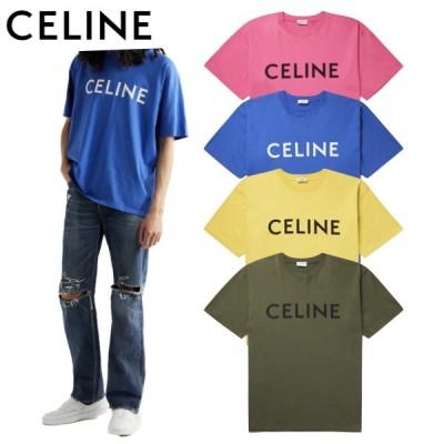 【4colors】CELINE HOMME Logo-Print Cotton-Jersey T-shirt 2021SS セリーヌ メンズ ロゴプリント コットンジャージー Tシャツ 2021年春夏