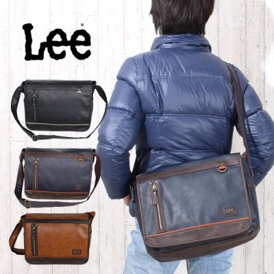 ショルダーバッグ メンズ 斜めがけ Lee リー infinity  320-3104 かぶせ メンズバッグ 大きめ 斜め掛けバック 旅行 修学旅行 通勤 通学 父の日 プレゼント