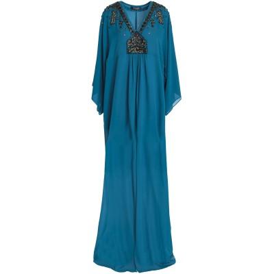 ロベルト カヴァリ ROBERTO CAVALLI ロングワンピース&ドレス ディープジェード 40 シルク 100% ロングワンピース&ドレス