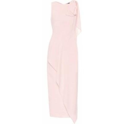 ローラン ムレ Roland Mouret レディース パーティードレス ミドル丈 ワンピース・ドレス Goldcrest wool-crepe midi dress Petal Pink