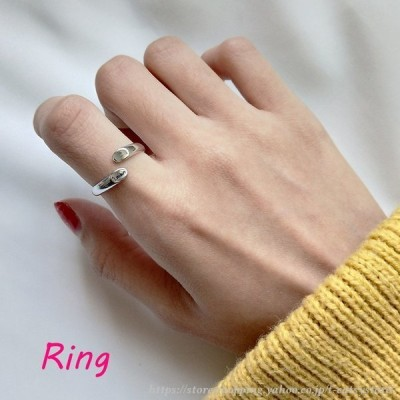 指輪 オープンリング レディース 女性 アクセサリー シルバー925 かわいい おしゃれ フリーサイズ 調節可能 ロゴ ギフト プレゼント 雑貨