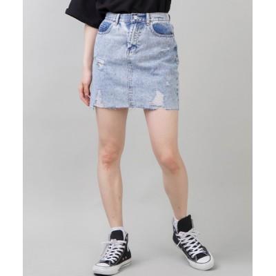 SPINNS / ダメージ加工デニムミニスカート WOMEN スカート > デニムスカート