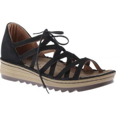ナオト Naot レディース サンダル・ミュール ウェッジソール シューズ・靴 Yarrow Wedge Sandal Black Velvet Nubuck